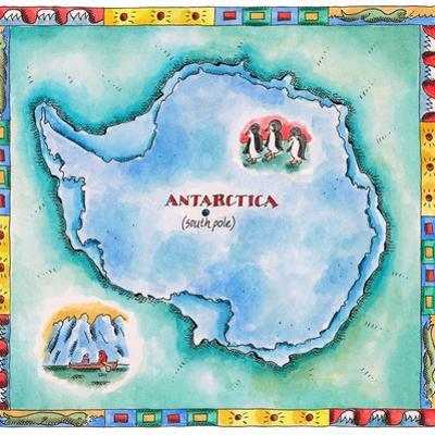 Map of Antarctica by Jennifer Thermes
