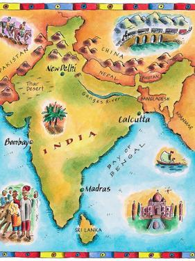 Map of India by Jennifer Thermes