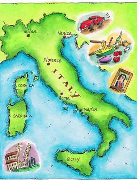 Map of Italy by Jennifer Thermes