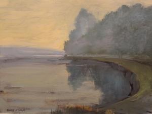 Batson Creek Salcombe, Early Morning, 2016 by Jennifer Wright
