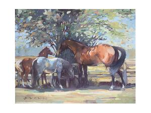 Horses - Summer Flies, 1990 by Jennifer Wright