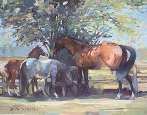 Horses - Summer Flies, 1990 by Jennifer Wright