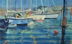 Isle of Wight - Yacht Reflections, 2010 by Jennifer Wright