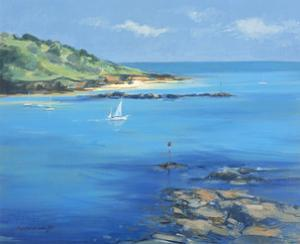 Sailing out of Salcombe, 2000 by Jennifer Wright