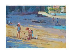 Salcombe Beach, Children by Jennifer Wright