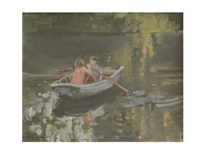 Salcombe Children Rowing by Jennifer Wright