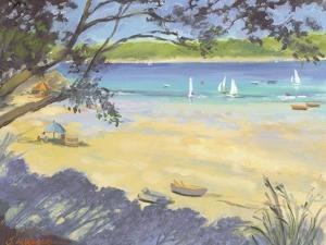 Salcombe Southsands Beach by Jennifer Wright