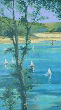 Salcombe Through The Trees by Jennifer Wright