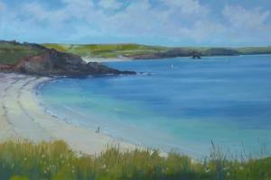 Thurlestone Beach, Calm Summer Day , 2016 by Jennifer Wright