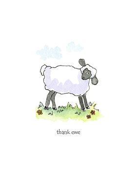 Ewe Thank by Jennifer Zsolt