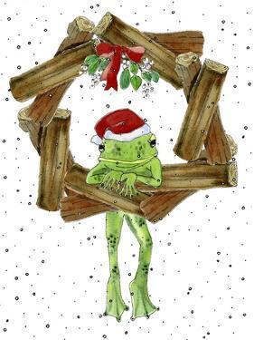 Santa Frog by Jennifer Zsolt
