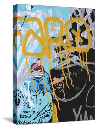 Yellow Aqua Graffiti I by Jenny Kraft