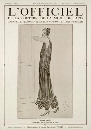 L'Officiel, October-November 1923 - Vertige Robe en Tulle Perlé de Cristal by Jenny