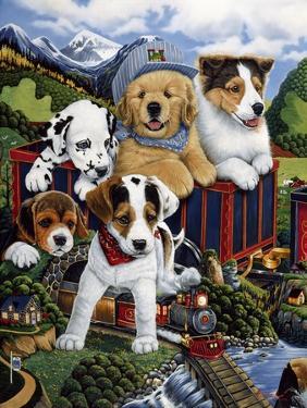 Choo Choo Puppies by Jenny Newland