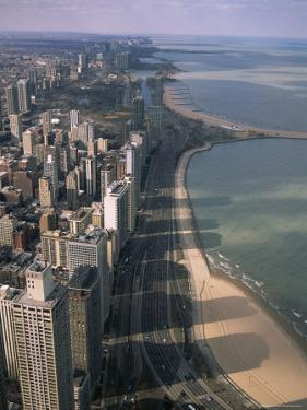View North Along Shore of Lake Michigan from John Hancock Center, Chicago, Illinois, USA by Jenny Pate