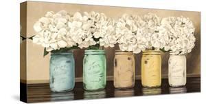 Hydrangeas in Mason Jars by Jenny Thomlinson