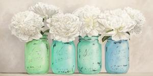 Peonies in Mason Jars (detail) by Jenny Thomlinson