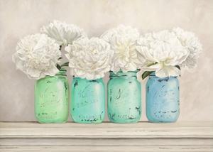 Peonies in Mason Jars by Jenny Thomlinson