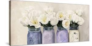 Tulips in Mason Jars (detail) by Jenny Thomlinson