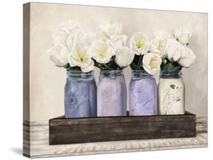 Tulips in Mason Jars by Jenny Thomlinson