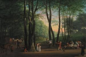 The Dancing Glade at Sorgenfri, North of Copenhagen, 1800 by Jens Juel