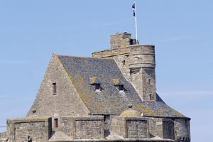 View of Keep of Saint-Malo Castle, Saint-Malo, Brittany, France by Jens Juel