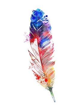 Feather Watercolor II by Jensen Adamsen