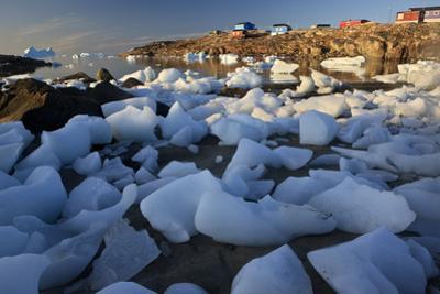 Coastal Ice Near Saqqaq, Greenland, August 2009