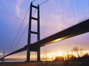 The Humber Bridge, Yorkshire, England by Jeremy Bright