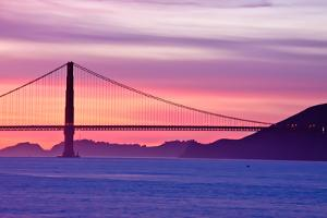Golden Gate Bridge at Sunset by Jeremy Duguid Photography