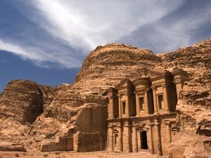 Nabatean tombs of Petra in Jordan by Jeremy Horner