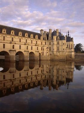 Chateau of Chenonceaux, Reflected in Water, Loire Valley, Centre, France, Europe by Jeremy Lightfoot