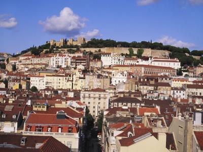 Cityscape of Lisbon and Castelo De Sao Jorge, Portugal by Jeremy Lightfoot