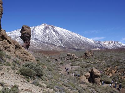 Los Roques and Mount Teide, Teide National Park, Tenerife, Canary Islands, Spain