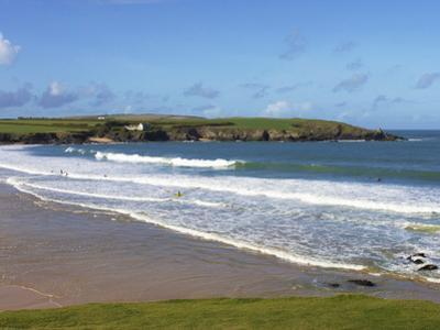 Surfers, Harlyn Bay, Cornwall, England, United Kingdom, Europe by Jeremy Lightfoot