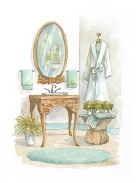 Watercolor Bath in Spa I by Jerianne Van Dijk