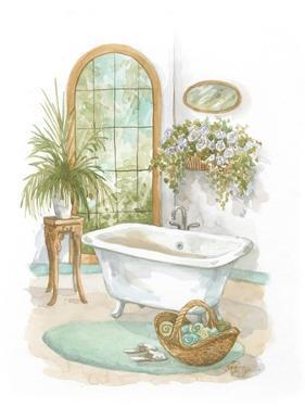 Watercolor Bath in Spa II by Jerianne Van Dijk