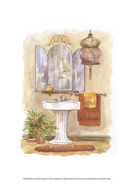 Watercolor Bath in Spice I by Jerianne Van Dijk