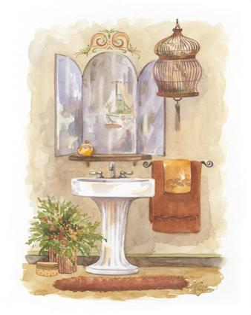 Watercolor Bath in Spice I