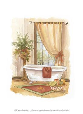 Watercolor Bath in Spice II by Jerianne Van Dijk