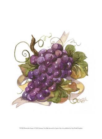 Watercolor Grapes I