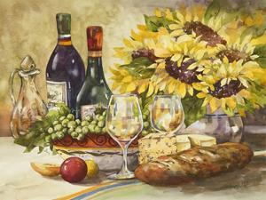 Wine & Sunflowers by Jerianne Van Dijk
