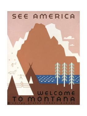 See America Welcome to Montana by Jerome Henry Rothstein