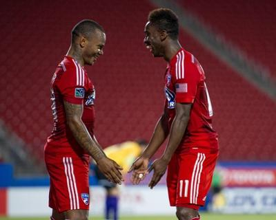 2014 MLS U.S. Open Cup: Jun 17, San Antonio Scorpions vs FC Dallas - Jeremy Vuolo, Andres Escobar