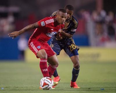 Jul 4, 2014 - MLS: Philadelphia Union vs FC Dallas - Andres Escobar, Raymon Gaddis