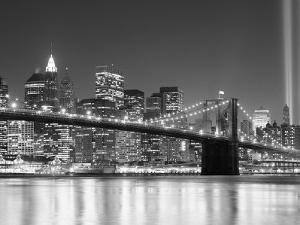 NY - Towers and Spot Lights by Jerry Driendl