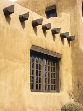 Adobe Architecture, Santa Fe, New Mexico, USA by Jerry Ginsberg