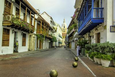 Architecture in the Plaza de San Pedro Claver, Cartagena, Colombia by Jerry Ginsberg