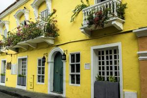 Architecture in the San Diego Part of Old City, Cartagena, Colombia by Jerry Ginsberg