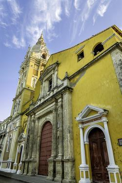Cathedral Santa Catalina de La Alejandria, Cartagena, Colombia by Jerry Ginsberg